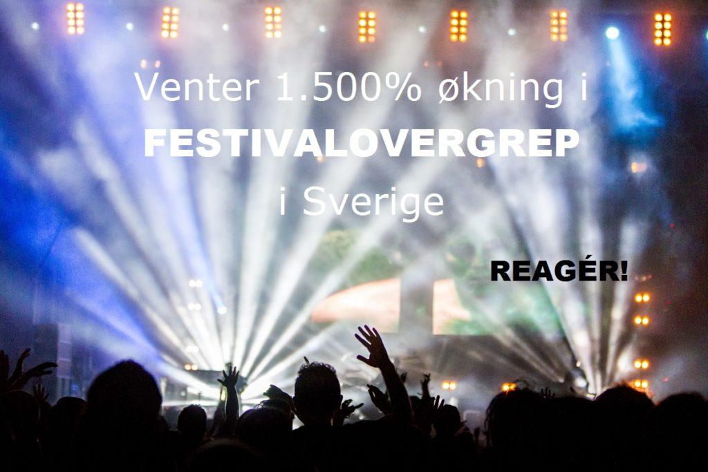 Antall seksuelle overgrep og voldtekter i forbindelse med svenske festivaler og konserter eksploderer.